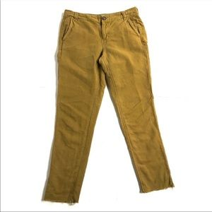 Madewell Rivington Trousers Raw Hem Size 4 Linen